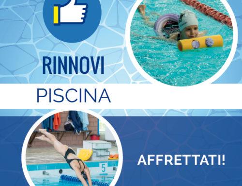 Rinnova il corso in piscina! Iscriviti al 3° periodo
