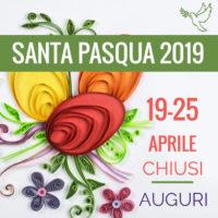 chiusura Pasqua 2019
