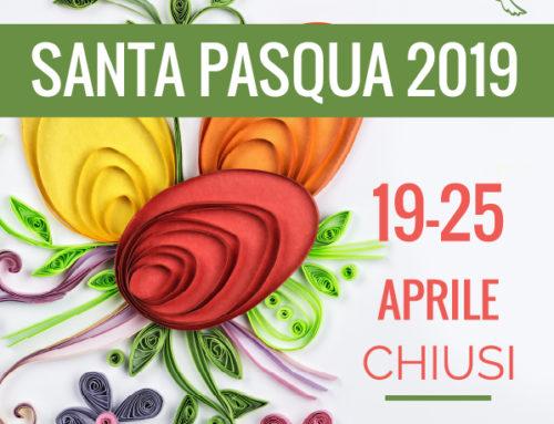 Chiusura impianti Pasqua 2019