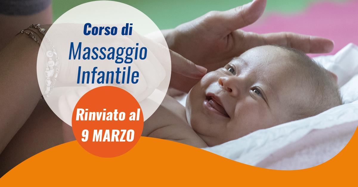 masaggio infantile rinviato a marzo