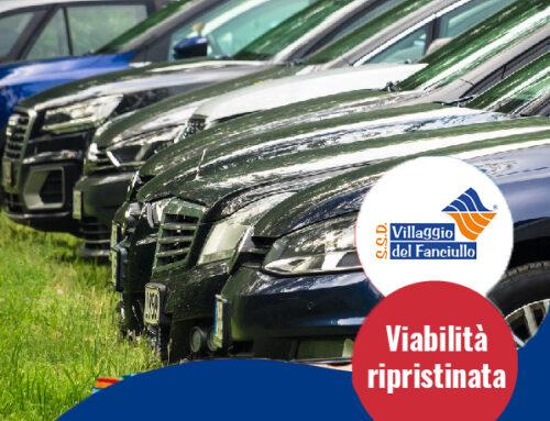 Parcheggi: viabilità ripristinata