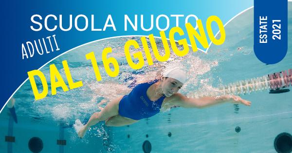 scuola nuoto adulti dal 16 giugno