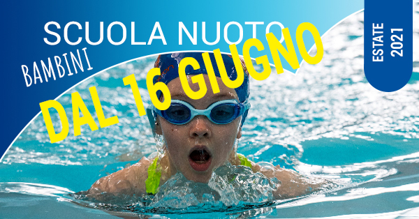 scuola nuoto bambini dal 16 giugno